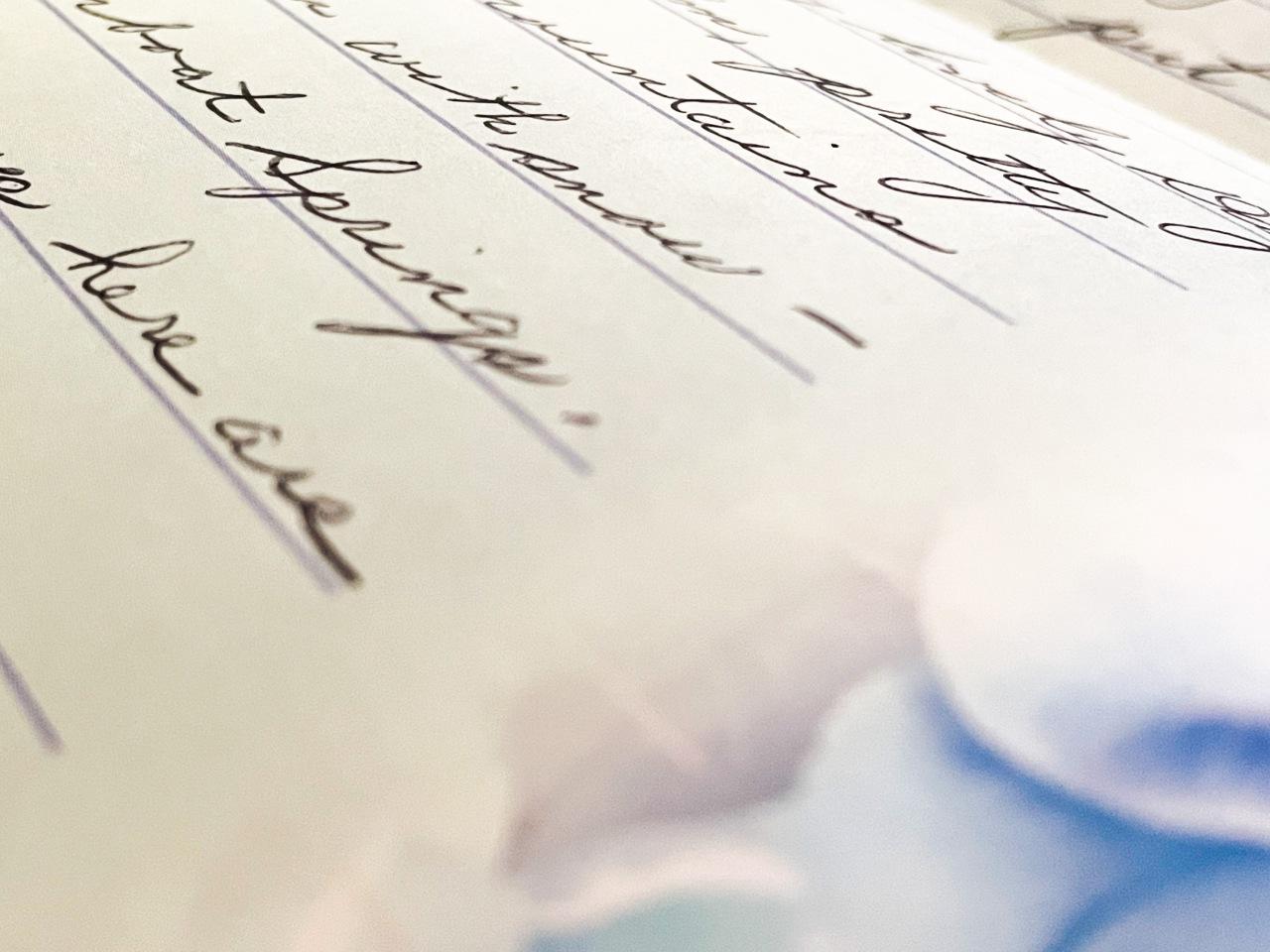 The Second Gaze –Handwriting