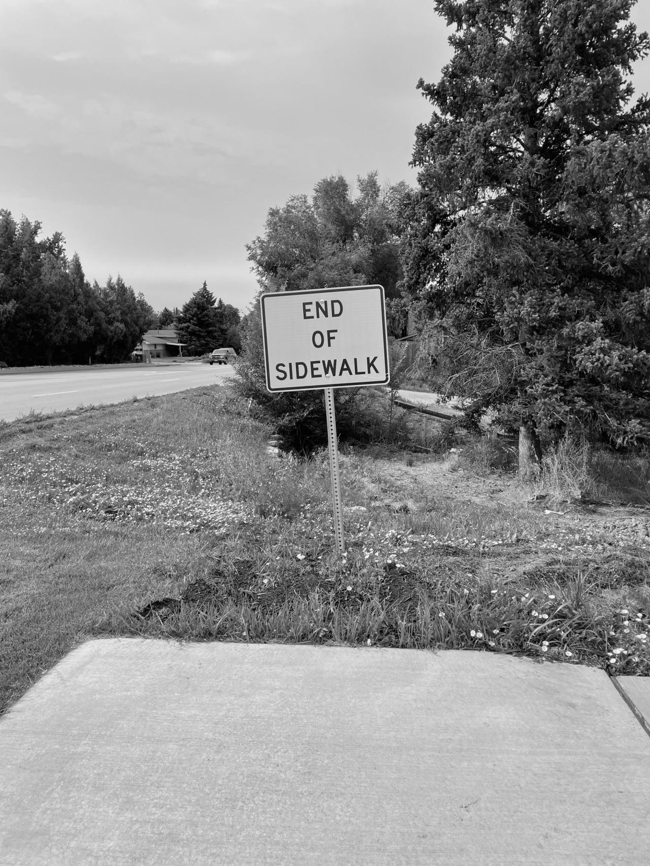 End of Sidewalk